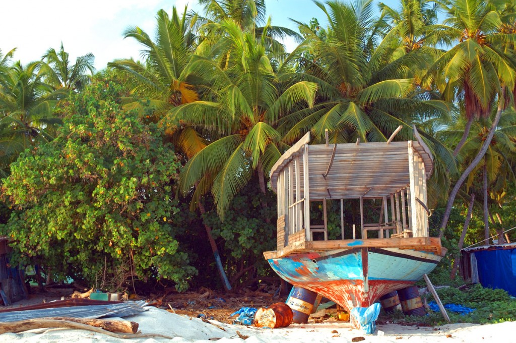 Boat on Fulidhoo Island