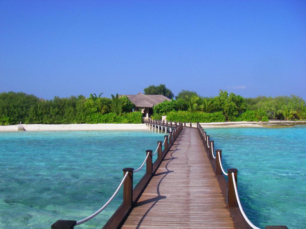 Boardwalk in Maldives