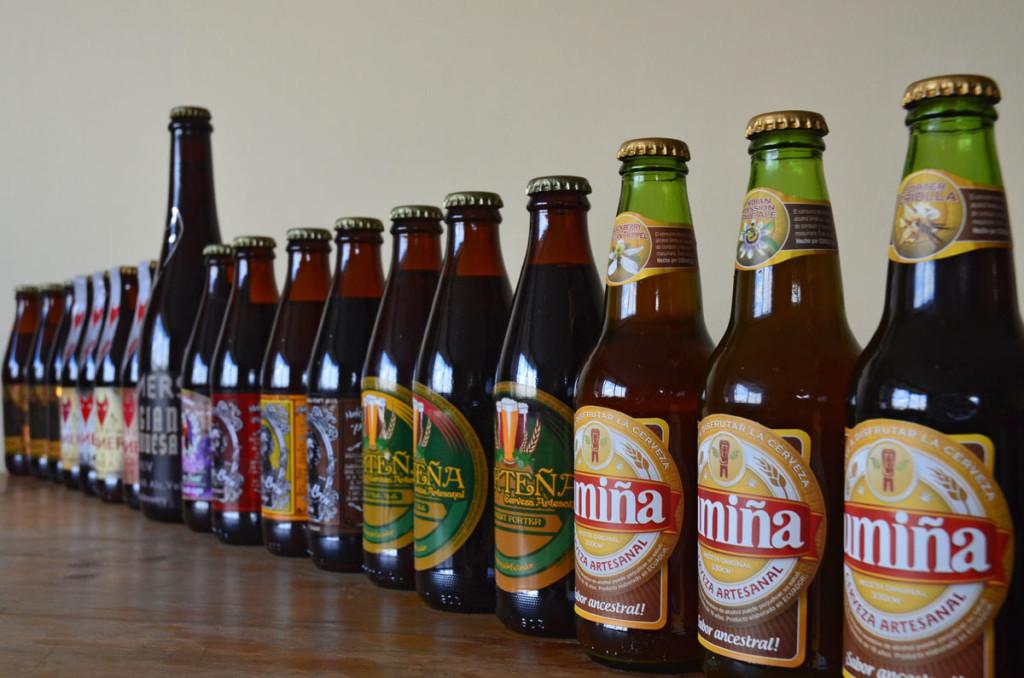Craft Beer Bottles in Quito