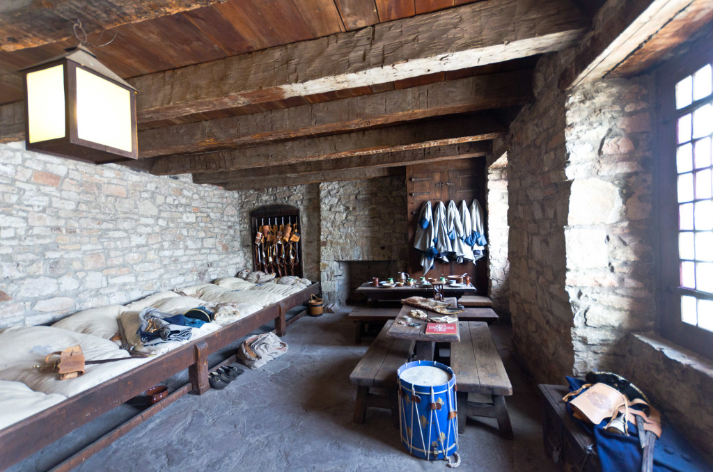 Barracks inside the French Castle